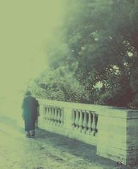lasciar andare (francescabonucci) Tags: mistero donna anziana strada nuvole nebbia biancoenero sogno