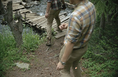 (Zavras) Tags: zavras colorado mountains summer adventure bridge river green hike brown blue grey black contax g1 zeiss sonnar porta 400