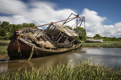 Fishing Wrecks, Sheldrakes, Merseyside (MelvinNicholsonPhotography) Tags: sheldrakes merseyside wreck boat uk canon5ds water reflection leefilters gitzogt3542xls