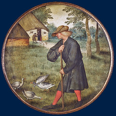 Who knows why geese walk barefoot (petrus.agricola) Tags: pieter bruegel younger proverbs flemish netherlandish painting tondo