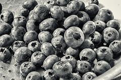 Stilll Life # LXXVII   ... ; (c)rebfoto (rebfoto) Tags: blueberries berries stilllife bw rebfoto summer summerberries harvest naturemorte