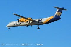 Alaska | N403QX (j.scottsfolio) Tags: bombardier dhc8q402 alaskaairlines montanastateuniversity cats bobcats n403qx airline airplane landing plane