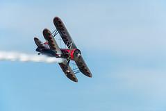 Dracula (Fly Sandman) Tags: eaa airventure oshkosh airshow airplane aircraft biplane aerobatics aerobatic dracula n669vp smokeon kylefranklin franklinsflyingcircus red black silver radialengine