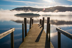 Revealed (99damo) Tags: lakedistrict water hawesend boat cumbria cold cloud derwentwater keswick fells crag inversion jetty mist nikon reflections sunrise