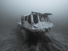 Transporter Underwater (altsaint) Tags: 714mm gf1 ndac panasonic tidenham monochrome quarry transporter underwater