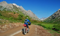 Biking in the Kok Suu Valley