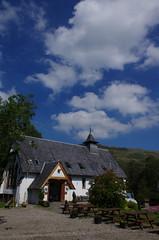 Inversnaid Bunkhouse (brightondj - getting the most from a cheap compact) Tags: lochlomond scotland ferry water loch scotlandaugust2016 inversnaidbunkhouse church sky clouds trossachs thetrossachs