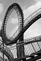 Tiger and Turtle Staircase (holger_haase) Tags: duisburg industry staircase germany nordrhein westfalen ruhrgebiet ruhrpott blackandwhite