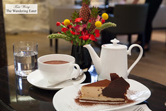 Hot chocolate and chestnut cake with chocolate (thewanderingeater) Tags: jacquesgenin paris france patisserie confectioner 3rdarrondissment teahouse