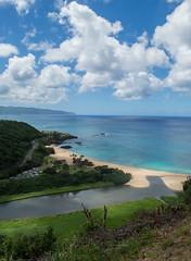 Waimea Bay (thanatosst) Tags: waimea waimeabay northshore oahu hawaii paradise ocean overlook jungle beach bay tropical blue green