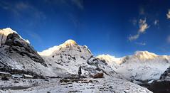 Annapurna South - Baraha Shikhar - Annpurna I (An Chung) Tags: annapurna nepal himalayas annapurnasanctuary barahashikhar annapurnasouth annapurnai outdoorlife getoutside mountains mountainslover