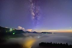 ~~  milkyway above clouds (Shang-fu Dai) Tags:  taiwan  nikon d800e sky    landscape formosa milkyway galaxy   cloudssea clouds   nightscene