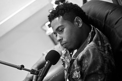 Bobby V in the place to Be (Brotha Kristufar) Tags: portrait portraiture monochrome black white singer artist talent bobby v valentino dtp hip hop atlanta podcast talk studio culture mic air bet actor film music lil wayne ludacris rb explore page feature this explored most viewed fuck flicr