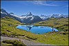 Alpine panorama taken from The Bachalp lake , Grindelwald, Berner Oberland. No. 9075. (Izakigur) Tags: helvetia flickr water eau wasser myswitzerland musictomyeyes swiss suiza lasuisse laventuresuisse liberty wetterhorn nikkor nikond700 nikkor2470f28 nikkor2470 grindelwald reflection climbeverymountain thesoundofmusic memories pure clean summer dieschweiz d700 feel fixyou coldplay hiking lac lake alps alpes alpen berneroberland bern berna berne ch europa eiger ilpiccoloprincipe thelittleprince lepetitprince topf25 topf300 100faves 200faves 250faves 300faves