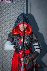 Assassin (Doug's Photography) Tags: nikon nikond610 d610 nikon3570mmf28 3570mmf28 flash artificiallight nikonsb700 sb700 speedlight newyork ny nyc nycc newyorkcity newyorkcitycomiccon javitscenter cosplay costume assassin assassinscreed woman lady