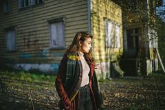 Mint Abadone (Keepsaix) Tags: autumn asian model sunset golden hour abandoned house places portrait portraiture portfolio nature norway bergen girl fashion nokton 35mm 12 sony a7 a72