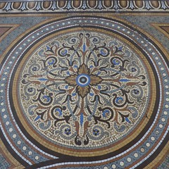 Chicago, Chicago Athletic Association Hotel, Tile Mosaic (Mary Warren (7.5+ Million Views)) Tags: chicago chicagoathleticassociation art tile mosaic round circle