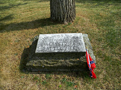 Stonewall Confederate Cemetery- Unknown Dead From The Kernstown Battle Field (Photo Squirrel) Tags: flag marker engraving granite marble grave massgrave cemetery confederate virginia battleofkernstown stonewallconfederatecemetery winchesterva