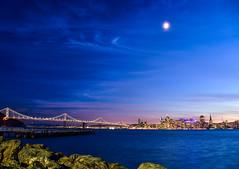 (tarczyn) Tags: sanfrancisco california usa bay ocean water blue bluehour sunset bridge