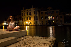 """Sitting on the dock of the bay"" - Ottis Redding (LusSalvador) Tags: venezia venice italia italy traveller travelphotography urbanphotography portrait longexposure canon canon600d reflex landscape landscapephotography city europe wonder girl orange yellow brown red summer september photography light"