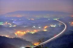 ~~ Fog Trail (Shang-fu Dai) Tags:  taiwan    clouds nikon d800e af 2870mmf3545d sky   coloredglasslight landscape liulilazurite formosa nightscene night  scene  lighttrail