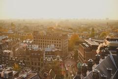 golden hour (spiridono) Tags: amsterdam golden hour sun light city cityscape netherlands view from top