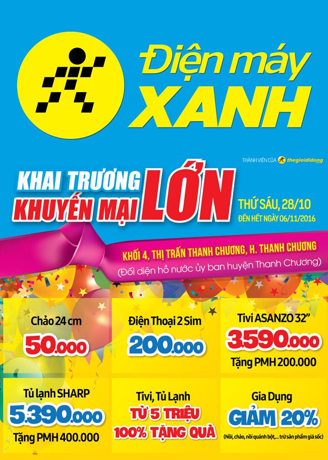 Khai trương siêu thị Điện máy XANH Thanh Chương, Nghệ An