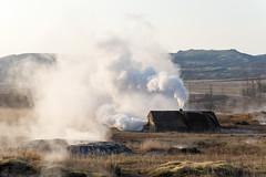 (CasualCapture) Tags: travel landscape iceland steam geyser geothermal hotsprings goldencircle pressurized haukadalurgeothermalarea