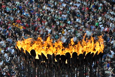 Shimmering Sea of Spectators (Chip_2904) Tags: uk london stadium torch olympics olympicstadium 2012 london2012 olympictorch