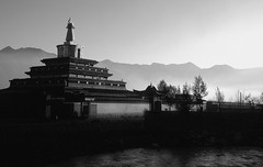 Labrang temple in Xiahe (Neal J.Wilson) Tags: china blackandwhite temple asia buddhism monastery labrang tibetan xiahe gansu tibetanculture tibetenmonastries