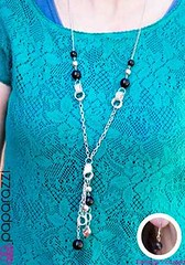 5th Avenue Black Necklace K2 P2120A-4