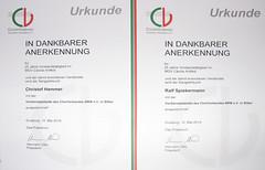 Urkunden für 25-jährige Vorstandsarbeit