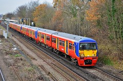 456003 (stavioni) Tags: red west electric train suburban south railway trains inner multiple emu unit swt livery ral class456 456003