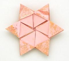 Fujimoto hexagone Rosette  14 back (Pliages et vagabondages) Tags: origami rosette décoration déco fujimoto hexagone