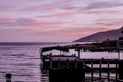 sunset at gulch in bicheno tasmania (Andrew.Bones) Tags: harbour jetty australia wharf tasmania bicheno thegulch