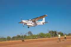 Plane taking off returning to Tana.