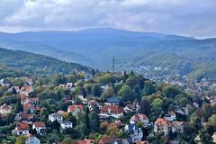 View of Wernigerode and the Brocken (zug55) Tags: castle germany deutschland brocken schloss harz burg wernigerode saxonyanhalt sachsenanhalt wernigerodecastle schlosswernigerode stolbergwernigerode