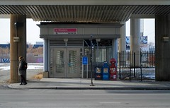 Western-Cermak Pink Line Station (Cragin Spring) Tags: city urban usa chicago station subway illinois midwest cta unitedstates chitown pilsen il western l westside elevated chicagoillinois chicagoil windycity chicagosubway pinkline