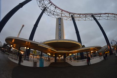 Station Building of the Grand National (CoasterMadMatt) Tags: park wood uk greatbritain winter england fish max west building eye english beach station one amusement wooden big nikon ride angle photos unitedkingdom britain north wide grand wideangle racing lancashire fisheye photographs national gb roller amusementpark british rides rollercoaster arrow pepsi february bigone coaster blackpool pleasure attraction coasters grandnational fisheyelens rollercoasters woodencoaster lancs hypercoaster pleasurebeach wideanglelens nikond3200 blackpoolpleasurebeach 2015 pepsimax dueling thebigone stationbuilding pepsimaxbigone northwestengland d3200 pleasurebeachblackpool coastermadmatt coastermadmattphotography february2015 winter2015 pleasurebeachblackpool2015 blackpoolpleasurebeach2015