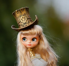 Blythe steampunk hat