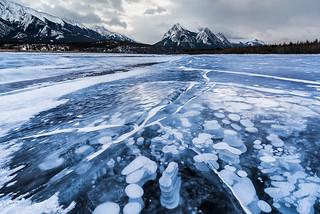 Lines, Shapes | Abraham Lake, Canadian Rockies