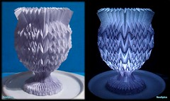 Paper Goblet With Fractal Folds Horizontally 13/13 (NeoSpica / NeoLiveArt) Tags: geometric digital paper design origami structure vase fold curved tessellation folding papercraft chalice goblet pleated corrugations parametric pleat оригами 折纸 кубок 纸艺 fractalfolds parametricfolding techniquesfolding origamigoblet 摺紙杯 бумагаискусства कागजकला papergoblet