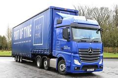 Mercedes Actros 6x2 Port of Tyne NJ63YYV Frank Hilton 04032015 029 (Frank Hilton.) Tags: pictures classic truck frank photos transport hilton lorry trucks