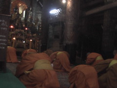Monks Praying Luang Prabang