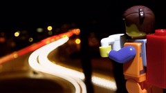 Watching The Wheels (Deanomite85) Tags: road light cars coffee night toy toys lights lego watching drinking minifig legominifigure minifigure emmet toyphotography legomovie legophotography legography thelegomovie