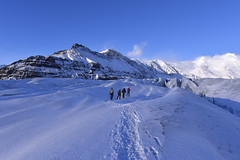 Walking on the Vatnajkull glacier at sunset, Iceland (diana_robinson) Tags: sunset iceland glacier southerniceland vatnajkullglacier