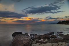 Davey's Bay, Australia (Indigo Skies Photography) Tags: ocean sunset sea sky reflection beach clouds sand rocks surf waves australia melbourne victoria frankston mteliza leefilter hoyandx400 leefoundationkit tamronsp2470mmf28divcusd nikond610