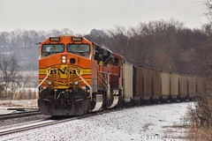 NS 737 at Jersey Pike (KD Rail Photography) Tags: snow coal ge bnsf norfolksouthern burlingtonnorthernsantafe ac4400cw