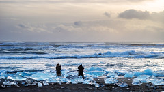 Everybody's looking for a mission (OR_U) Tags: winter sea sun ice dedication clouds iceland waves photographers oru tripods jkulsrln icefloe 2015