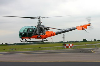 G-ASAZ/XS165 Hiller UH-12E RAF Waddington 4.7.05